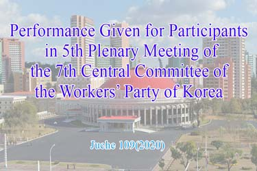Performance Given for Participants in 5th Plenary Meeting of the 7th Central Committee of the Workers' Party of  Korea